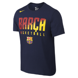 Мужская футболка Nike Basketball (Barcelona)Мужская футболка Nike Basketball (Barcelona) украшена символикой известного баскетбольного клуба и обеспечивает абсолютный комфорт.<br>