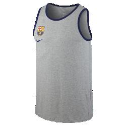 Мужская майка FC Barcelona BasketballМужская майка FC Barcelona Basketball с эмблемой команды на комфортной хлопковой ткани демонстрирует твою преданность любимому клубу.<br>