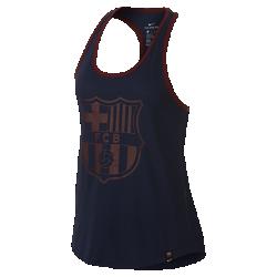 Женская майка FC Barcelona RacerbackЖенская майка FC Barcelona Racerback из мягкого смесового хлопка с символикой клуба обеспечивает длительный комфорт.<br>