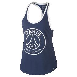 Женская майка Paris Saint-Germain RacerbackЖенская майка Paris Saint-Germain Racerback из мягкого смесового хлопка с символикой клуба обеспечивает длительный комфорт.<br>
