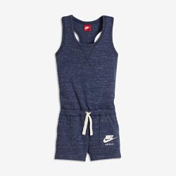 Комбинезон для девочек школьного возраста Nike Sportswear VintageКомбинезон для девочек школьного возраста Nike Sportswear Vintage из легкой смесовой ткани на основе хлопка с Т-образной спиной обеспечивает комфорт и свободу движений на весь день.<br>