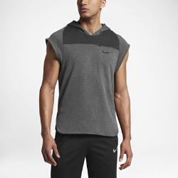 Мужская баскетбольная худи Nike DryМужская баскетбольная худи Nike Dry из влагоотводящей ткани пике с короткими рукавами покроя реглан и разрезами в нижней кромке обеспечивает комфорт и не сковывает движения во время игры.<br>