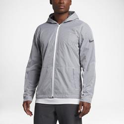 Мужская баскетбольная куртка Nike Hyper EliteМужская баскетбольная куртка Nike Hyper Elite из водоотталкивающих материалов со складывающейся конструкцией обеспечивает комфорт для игр на площадке и походов в зал в изменчивую погоду.<br>