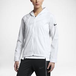 Женская баскетбольная куртка Nike Hyper EliteЖенская баскетбольная куртка Nike Hyper Elite из водоотталкивающей ткани со складывающейся конструкцией обеспечивает легкость и защиту в изменчивую погоду.<br>