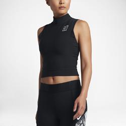 Женская теннисная майка NikeCourt DryЖенская теннисная майка Nike Dry со слегка укороченным кроем обеспечивает комфорт и свободу движений во время тренировок и матчей.<br>
