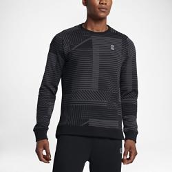 Мужская футболка с длинным рукавом NikeCourtМужская футболка с длинным рукавом NikeCourt с регулируемой посадкой украшена оригинальным принтом, вдохновленным игрой тени и света на площадке.<br>