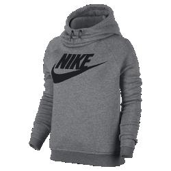 Женская худи Nike Sportswear RallyЖенская худи Nike Sportswear Rally из мягкого флиса с воротником-трубой, который можно также использовать в качестве капюшона, обеспечивает комфорт и защиту от холода.<br>