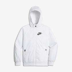 Куртка для мальчиков школьного возраста Nike Sportswear WindrunnerКуртка для мальчиков школьного возраста Nike Sportswear Windrunner из легкой ткани рипстоп с капюшоном из нескольких панелей обеспечивает комфорт и защиту от непогоды.<br>