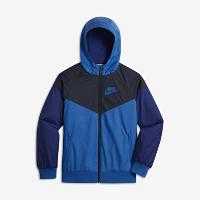 <ナイキ(NIKE)公式ストア> ナイキ スポーツウェア ウィンドランナー ジュニア (ボーイズ) ジャケット 850443-465 ブルー画像