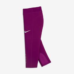 Беговые тайтсы длиной 3/4 для девочек школьного возраста Nike PowerБеговые тайтсы длиной 3/4 для девочек школьного возраста Nike Power с компрессионной посадкой и дышащей конструкцией обеспечивают поддержку и комфорт во время любой пробежки.<br>
