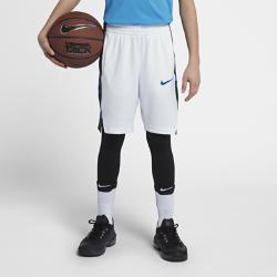 Баскетбольные шорты для мальчиков школьного возраста Nike Dri-FIT EliteБаскетбольные шорты для мальчиков школьного возраста Nike Elite из мягкой влагоотводящей ткани с вставками из сетки обеспечивают вентиляцию и комфорт во время игры.<br>