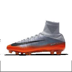 Футбольные бутсы для игры на твердом грунте Nike Mercurial Superfly V CR7Футбольные бутсы для игры на твердом грунте Nike Mercurial Superfly V CR7 обеспечивают превосходное касание мяча и надежную посадку, позволяя развивать высокую скорость на поле.<br>