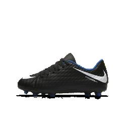 Футбольные бутсы для игры на твердом грунте для дошкольников/школьников Nike Jr. Hypervenom Phade 3Футбольные бутсы для игры на твердом грунте для дошкольников/школьников Nike Jr. Hypervenom Phade 3 создают превосходное сцепление с поверхностью на полях с короткой травой благодаря продуманному расположению шипов, а верх из мягкого, похожего на кожу материала улучшает контроль мяча.<br>