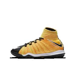 Футбольные бутсы для игры на газоне для дошкольников/школьников Nike Jr. HypervenomX Proximo II Dynamic FitФутбольные бутсы для игры на газоне для дошкольников/школьников Nike Jr. HypervenomX Proximo II Dynamic Fit с верхом с плотной посадкой и амортизацией Nike Zoom Air обеспечивают превосходный контроль и комфорт во время игры.<br>