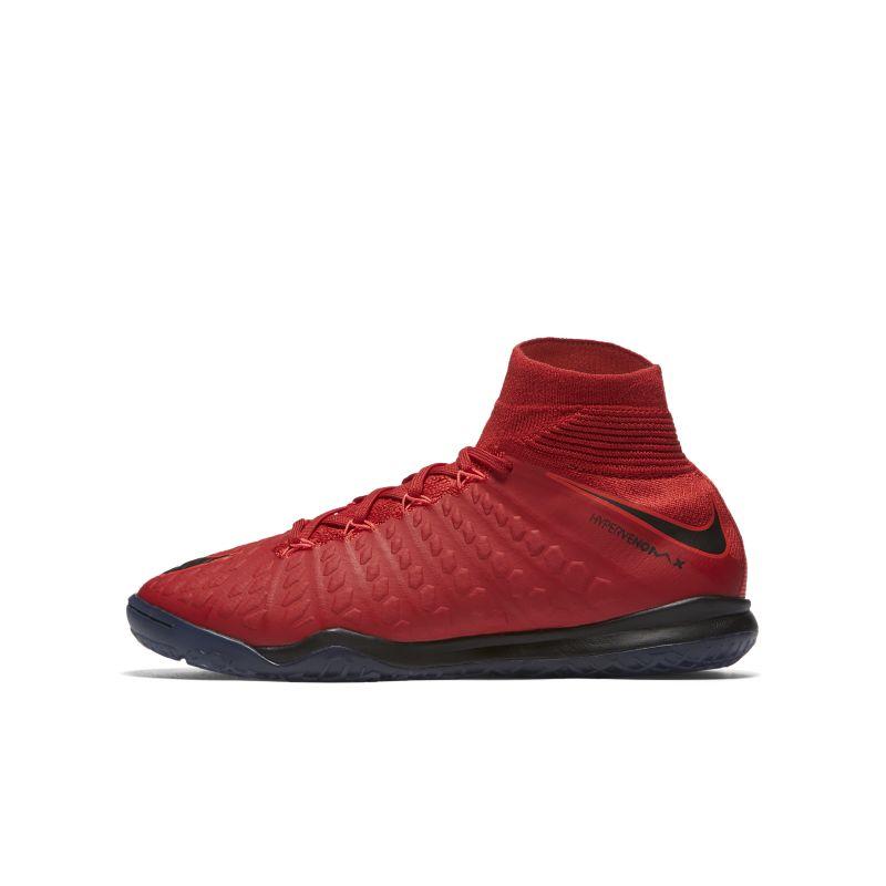 Nike Jr. HypervenomX Proximo II Dynamic Fit Older Kids'Indoor/Court Football Shoe - Red Image