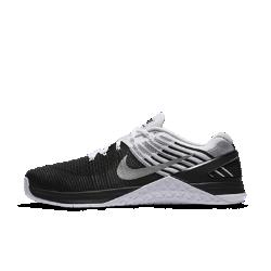 Мужские кроссовки для тренинга Nike Metcon DSX FlyknitЛегкие мужские кроссовки для тренинга Nike Metcon DSX Flyknit созданы для самых интенсивных тренировок — от упражнений с канатом и у стены до бега на короткие дистанции и поднятия веса.<br>