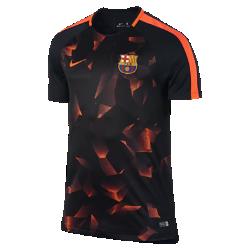 Мужская игровая футболка с коротким рукавом FC Barcelona Dry SquadМужская игровая футболка FC Barcelona из эластичной влагоотводящей ткани с короткими рукавами покроя реглан обеспечивает комфорт и свободу движений на поле.<br>
