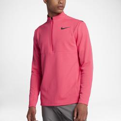 Мужская футболка для гольфа с длинным рукавом Nike AeroReact WarmМужская футболка для гольфа с длинным рукавом Nike AeroReact Warm реагирует на меняющиеся условия, обеспечивая комфорт в непогоду. АДАПТИВНЫЙ КОМФОРТ  Технология Nike AeroReact представляет собой специальные волокна, которые раскрываются при повышении температуры тела и закрываются, когда нужно согреться.  КОМФОРТ  Вставки из сетки обеспечивают вентиляцию, комфорт и свободу движений.  ТЕПЛО  Высокий воротник застегивается на молнию до подбородка для дополнительной защиты. Обновленная молния устраняет лишний объем и не создает дискомфорт в области подбородка.<br>