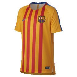Игровая футболка с коротким рукавом для школьников FC Barcelona SquadИгровая футболка с коротким рукавом для школьников FC Barcelona Squad из влагоотводящей ткани с фирменными деталями обеспечивает прохладу и комфорт.<br>