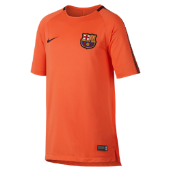 Игровая футболка для школьников FC Barcelona Breathe SquadИгровая футболка для школьников FC Barcelona Breathe Squad из влагоотводящей ткани с сетчатой вставкой на спине обеспечивает вентиляцию и комфорт на поле и за его пределами.<br>