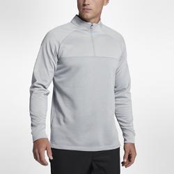 Мужская футболка для гольфа с молнией до середины груди Nike Therma CoreМужская футболка для гольфа с молнией до середины груди Nike Therma Core из термоткани с водоотталкивающим покрытием обеспечивает тепло и комфорт во время игры.<br>