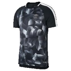 Мужская игровая футболка с коротким рукавом Paris Saint-Germain Dry SquadМужская игровая футболка Paris Saint-Germain Dry Squad из эластичной влагоотводящей ткани с короткими рукавами покроя реглан обеспечивает комфорт и свободу движений на поле.<br>