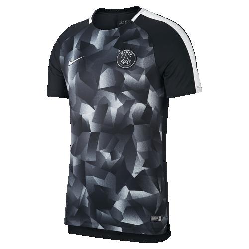 パリ サンジェルマン Dri-FIT スクワッド メンズ ショートスリーブ サッカートップ 854571-015 ブラック