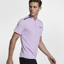 Мужская теннисная рубашка-поло NikeCourt Roger Federer AdvantageСоздано для изящного стиля игры Роджера Федерера. Мужская теннисная рубашка-поло NikeCourt Roger Federer Advantage обеспечивает охлаждение в самые напряженные моменты игры благодаря влагоотводящей ткани с зонами вентиляции.  СВОБОДА ДВИЖЕНИЙ  Вставки в области подмышек обеспечивают полную свободу движений при каждом замахе.  КОМФОРТ  Ткань с технологией Dri-FIT отводит влагу от кожи и обеспечивает комфорт.  ВОЗДУХОПРОНИЦАЕМОСТЬ  Лазерная перфорация отводит лишнее тепло и усиливает циркуляцию воздуха.   ПОДРОБНЕЕ  Технология Dri-FIT отводит влагу и обеспечивает комфорт Удлиненная сзади нижняя кромка для защиты при наклонах Состав: 100% переработанный полиэстер Машинная стирка Импорт<br>