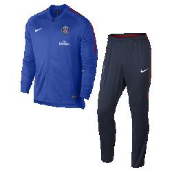 Мужской футбольный костюм Paris Saint-Germain Dri-FIT SquadМужской футбольный костюм Paris Saint-Germain Dri-FIT Squad из влагоотводящей ткани с фирменными деталями обеспечивает комфорт.<br>