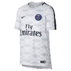 Игровая футболка для школьников Paris Saint-Germain Dry SquadИгровая футболка для школьников Paris Saint-Germain Dry Squad из легкой влагоотводящей ткани с сетчатой вставкой на спине обеспечивает комфорт на поле.<br>