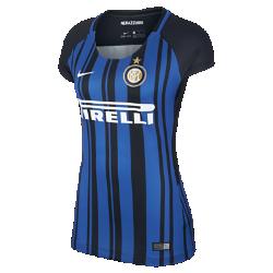 Женское футбольное джерси 2017/18 Inter Milan Stadium HomeЖенское футбольное джерси 2017/18 Inter Milan Stadium Home из дышащей влагоотводящей ткани обеспечивает охлаждение и комфорт.<br>