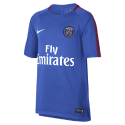 Игровая футболка для школьников Paris Saint-Germain Breathe SquadИгровая футболка для школьников Paris Saint-Germain Breathe Squad из влагоотводящей ткани с сетчатой вставкой на спине обеспечивает вентиляцию и комфорт на поле и за его пределами.<br>