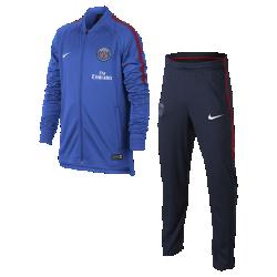 Футбольный костюм для мальчиков Paris Saint-Germain Dri-FIT SquadФутбольный костюм для мальчиков Paris Saint-Germain Dri-FIT Squad из влагоотводящей ткани с фирменными деталями обеспечивает комфорт.<br>