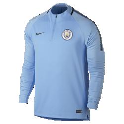 Мужская игровая футболка Manchester City FC Dri-FIT Squad DrillМужская игровая футболка Manchester City FC Dri-FIT Squad Drill из эластичной влагоотводящей ткани с рукавами покроя реглан обеспечивает комфорт и свободу движений на поле.<br>
