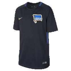 Футбольное джерси для школьников 2017/18 Hertha BSC Stadium AwayФутбольное джерси для школьников 2017/18 Hertha BSC Stadium Away из дышащей влагоотводящей ткани обеспечивает охлаждение и комфорт.<br>