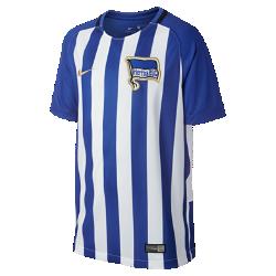 Футбольное джерси для школьников 2017/18 Hertha BSC Stadium HomeФутбольное джерси для школьников 2017/18 Hertha BSC Stadium Home из дышащей влагоотводящей ткани обеспечивает охлаждение и комфорт.<br>
