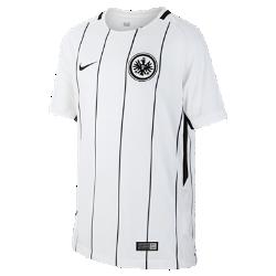 Футбольное джерси для школьников 2017/18 Eintracht Frankfurt Stadium HomeФутбольное джерси для школьников 2017/18 Eintracht Frankfurt Stadium Home из дышащей влагоотводящей ткани обеспечивает охлаждение и комфорт.<br>