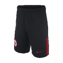 Футбольные шорты для школьников 2017/18 Eintracht Frankfurt Stadium AwayФутбольные шорты для школьников 2017/18 Eintracht Frankfurt Stadium Away из легкой ткани со вставками из эластичной сетки обеспечивают длительный комфорт и естественную свободу движений.<br>