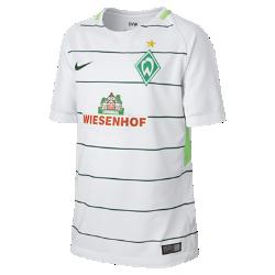 Футбольное джерси для школьников 2017/18 Werder Bremen Stadium AwayФутбольное джерси для школьников 2017/18 Werder Bremen Stadium Away из дышащей влагоотводящей ткани обеспечивает охлаждение и комфорт.<br>