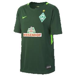 Футбольное джерси для школьников 2017/18 Werder Bremen Stadium HomeФутбольное джерси для школьников 2017/18 Werder Bremen Stadium Home из дышащей влагоотводящей ткани обеспечивает охлаждение и комфорт.<br>