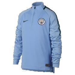 Игровая футболка для школьников Manchester City FC Dry Squad DrillИгровая футболка для школьников Manchester City FC Dry Squad Drill из эластичной влагоотводящей ткани с рукавами покроя реглан обеспечивает комфорт и свободу движений на поле.<br>