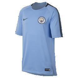 Игровая футболка для школьников Manchester City FC Breathe SquadИгровая футболка для школьников Manchester City FC Breathe Squad из влагоотводящей ткани с сетчатой вставкой на спине обеспечивает вентиляцию и комфорт на поле и за его пределами.<br>