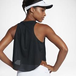 Женская теннисная майка NikeCourtЖенская теннисная майка NikeCourt с воздушной многослойной конструкцией и вшитым бра обеспечивает вентиляцию и поддержку во время игры.<br>