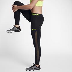 Женские тайтсы для тренинга Nike Pro HyperWarm 71 смЖенские тайтсы для тренинга Nike Pro HyperWarm 71 см из мягкой термоткани со вставками из сетки обеспечивают воздухопроницаемость и тепло во время тренировок на улице.Технология Nike Pro HyperWarm сочетает влагоотводящую термоткань и систему вентиляции в зонах повышенного тепловыделения, обеспечивая тепло без перегрева.<br>
