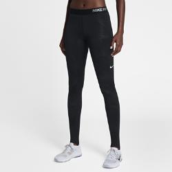 Женские тайтсы для тренинга Nike Pro HyperWarmЖенские тайтсы для тренинга Nike Pro HyperWarm из мягкой термоткани со вставками из сетки обеспечивают воздухопроницаемость и тепло во время тренировок на улице.Технология Nike Pro HyperWarm сочетает влагоотводящую термоткань и систему вентиляции в зонах повышенного тепловыделения, обеспечивая тепло без перегрева.<br>