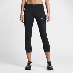 Женские укороченные тайтсы для бега Nike RacerЖенские укороченные тайтсы для бега Nike Racer из эластичного материала обеспечивают поддержку во время бега, а плотно прилегающие вставки из сетки создают оптимальную вентиляцию.<br>