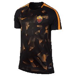 Мужская игровая футболка A.S. Roma Dry SquadМужская игровая футболка A.S. Roma Dry Squad из влагоотводящей ткани с рукавами покроя реглан обеспечивает комфорт и свободу движений во время игры.<br>