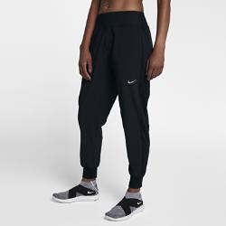 Женские беговые брюки Nike Essential 70 смЖенские беговые брюки Nike Essential 70 см из легкой эластичной ткани обеспечивают свободу движений на пробежке и после нее. Ткань Nike Flex повторяет каждое движение, а свободный крой в области бедер обеспечивает комфорт.<br>