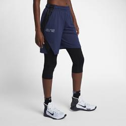 Женские баскетбольные шорты Nike Dry Elite 23 смЖенские баскетбольные шорты Nike Dry Elite 23 см из влагоотводящей ткани со вставками из сетки обеспечивают вентиляцию и комфорт во время игры.<br>