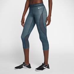 Женские капри для тренинга Nike Pro HyperCool 56 смЖенские капри для тренинга Nike Pro HyperCool 56 см из эластичной ткани со вставками из дышащей сетки обеспечивают вентиляцию, комфорт и свободу движений во время тренировки.<br>